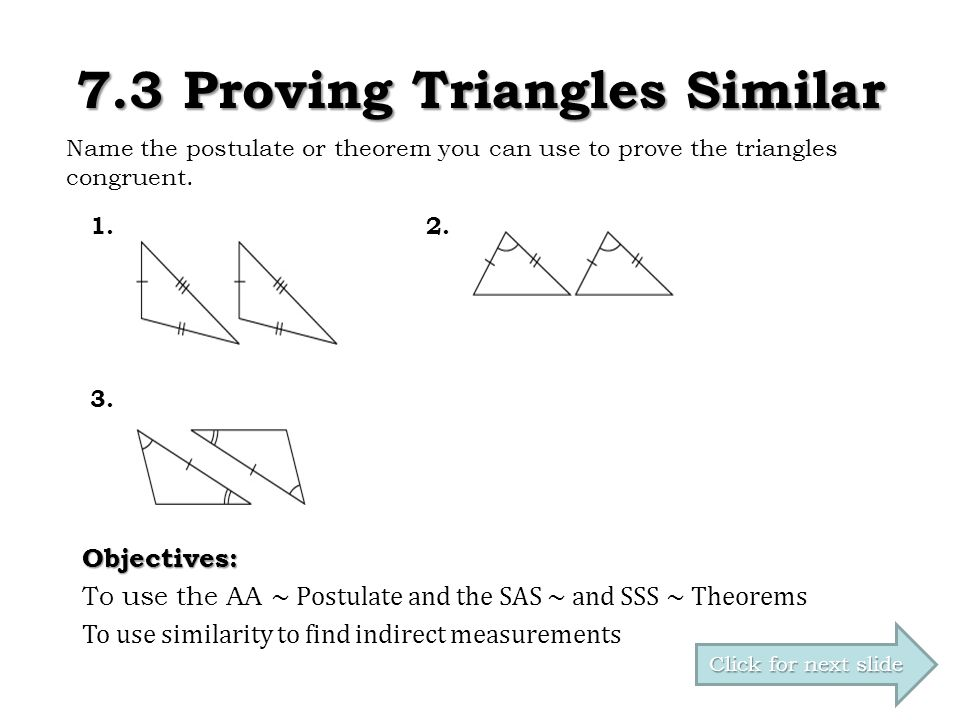 7.3 Proving Triangles Similar - ppt download