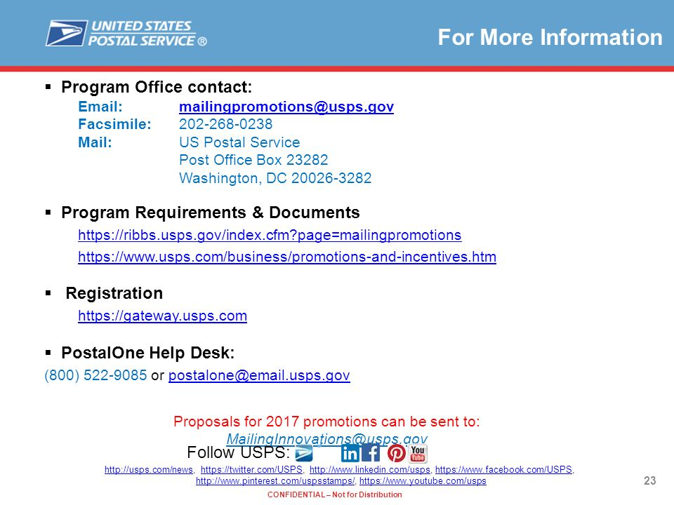 For More Information Program Office Contact: