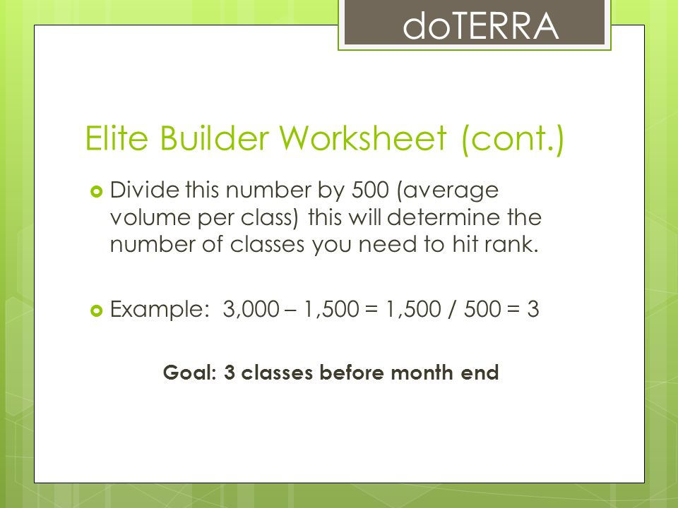 The Path To Elite What It Takes Ppt Video Online Download. Elite Builder Worksheet Cont. Worksheet. Silver Builder Worksheet At Clickcart.co
