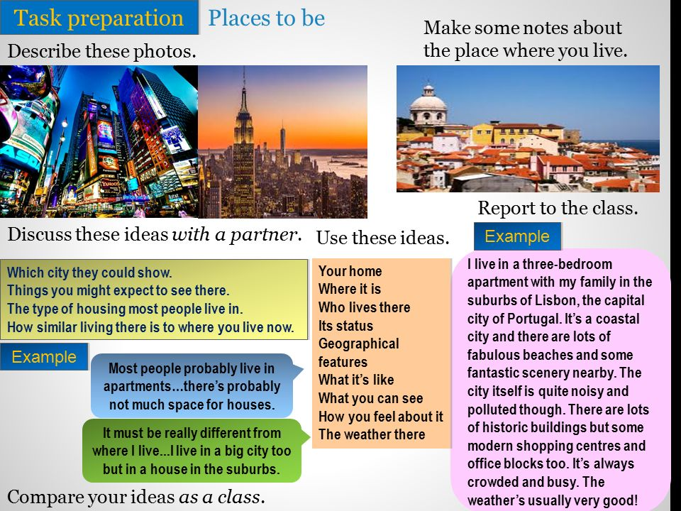 A2-B1 Unit One Lesson 2A Describing Places  - ppt video
