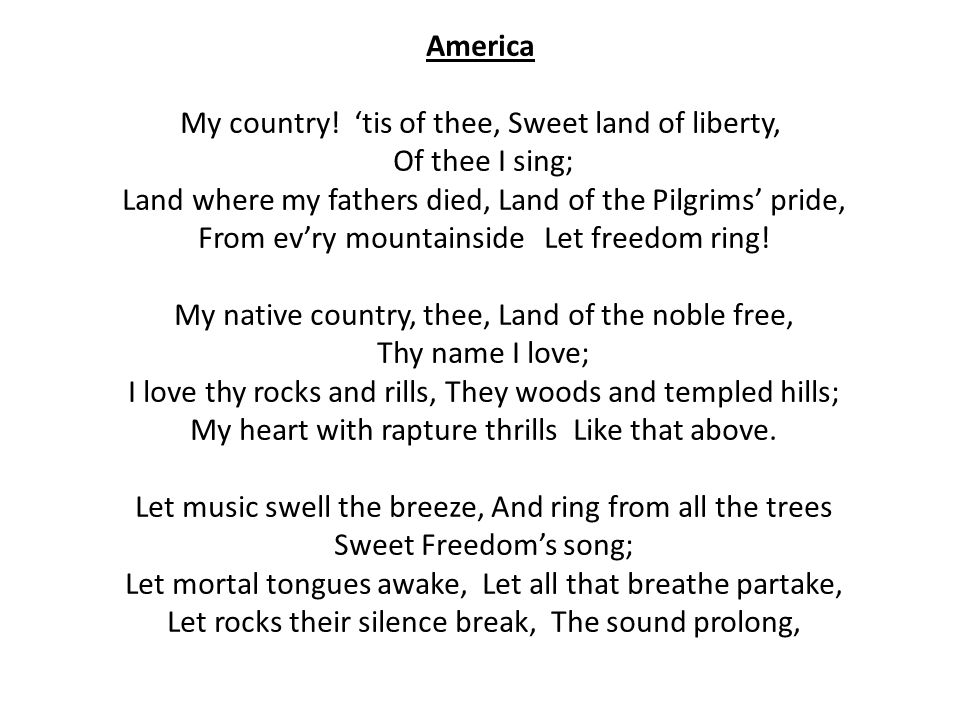 Lyric my country tis of thee lyrics : The Star-Spangled Banner - ppt video online download