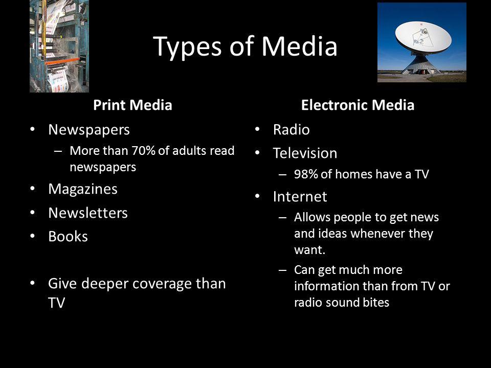 print media or electronic media