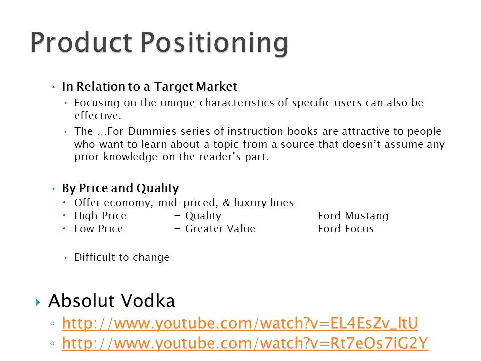 absolut vodka target audience
