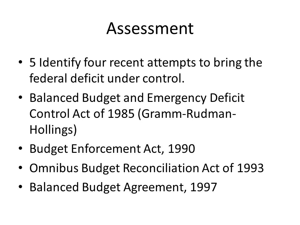 Ch 10 Section 3 Balanced Budget Amendment Ppt Download