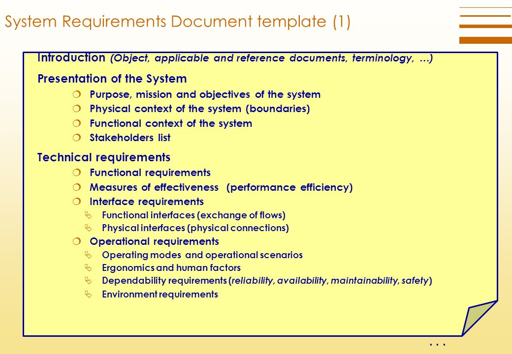 Functional Requirements Template | Technical Requirements Definition Process Ppt Download
