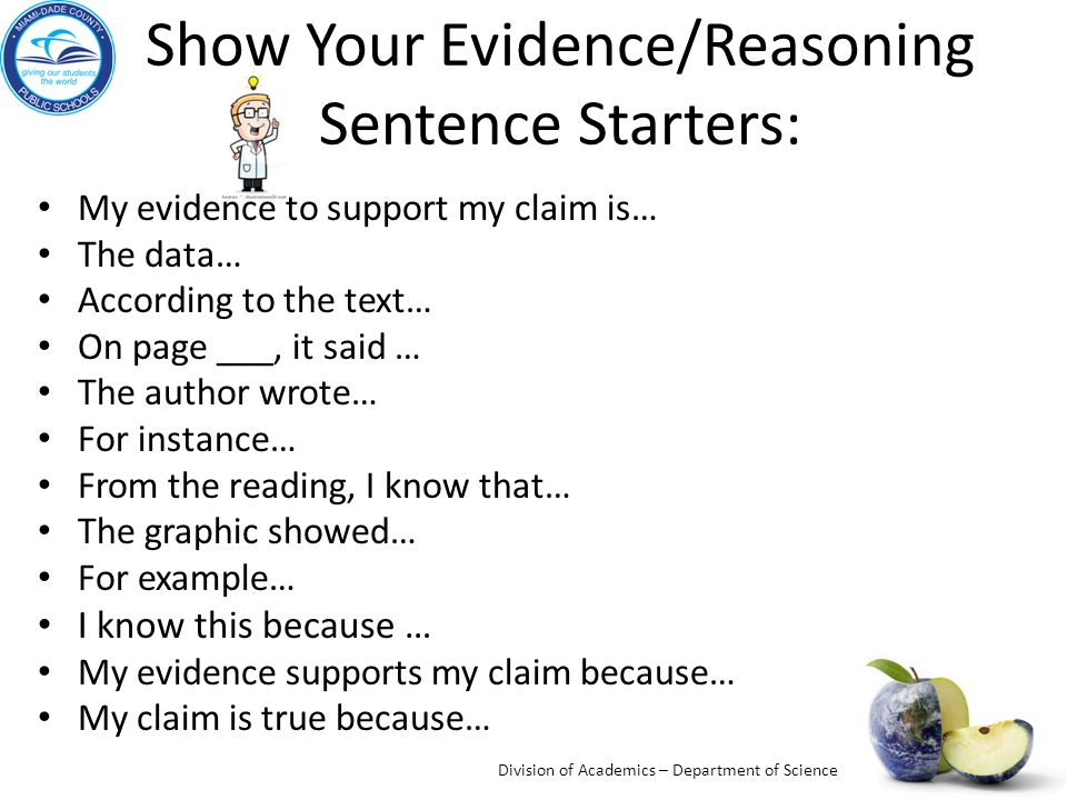 Claims Evidence Reasoning CER Anchor Charts - ppt video