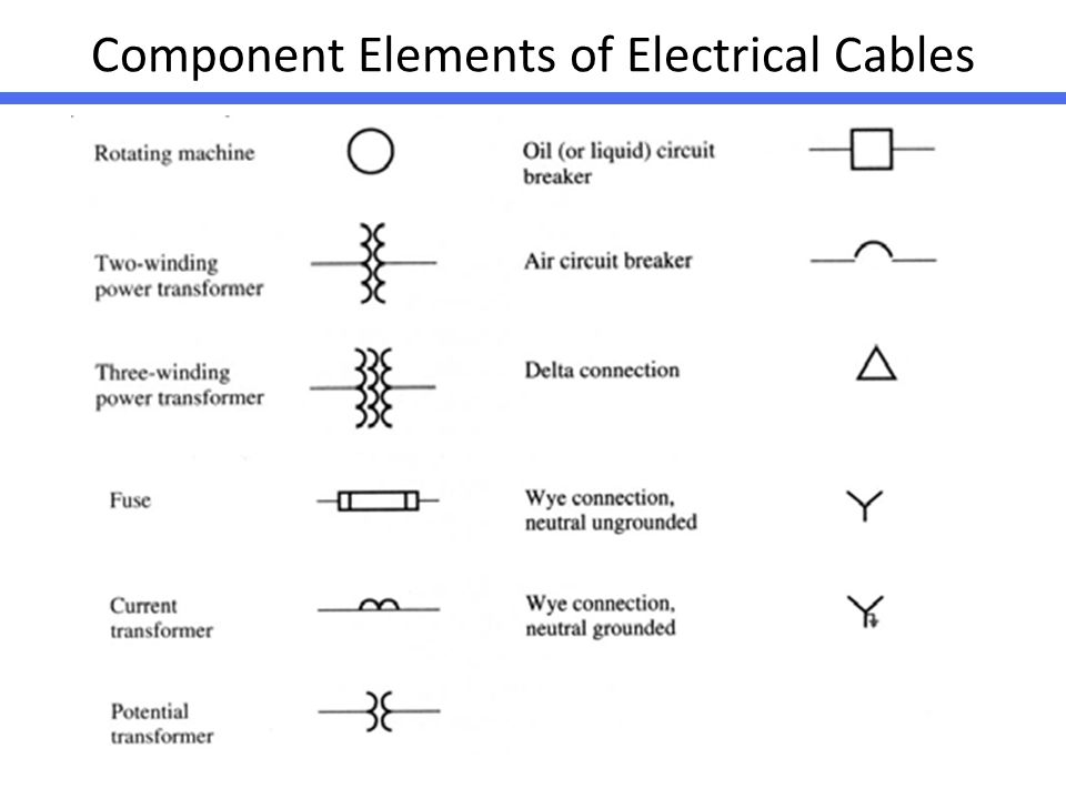 electrical symbol and line diagram