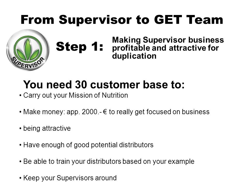 From Supervisor To Get Team Ppt Video Online Download