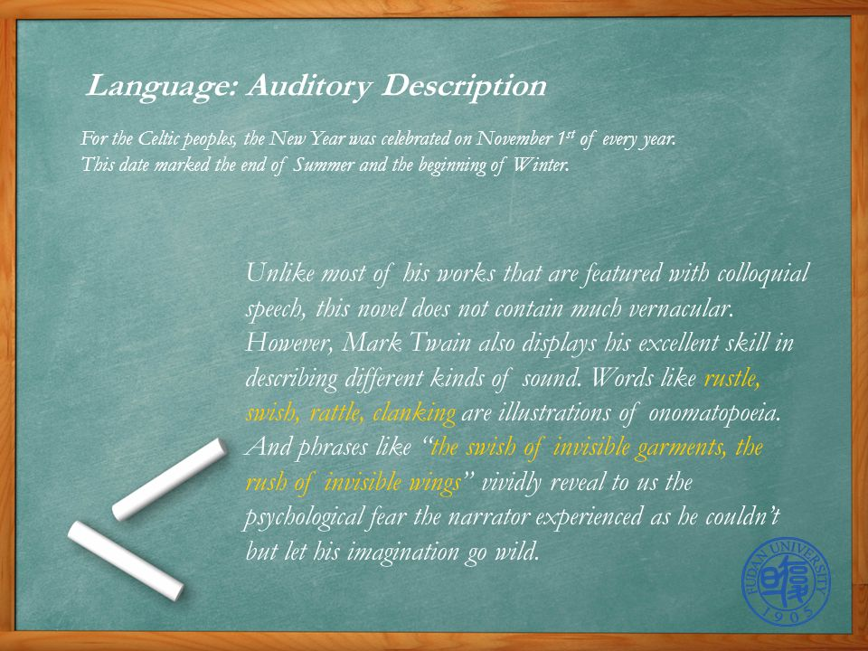 8 language auditory description
