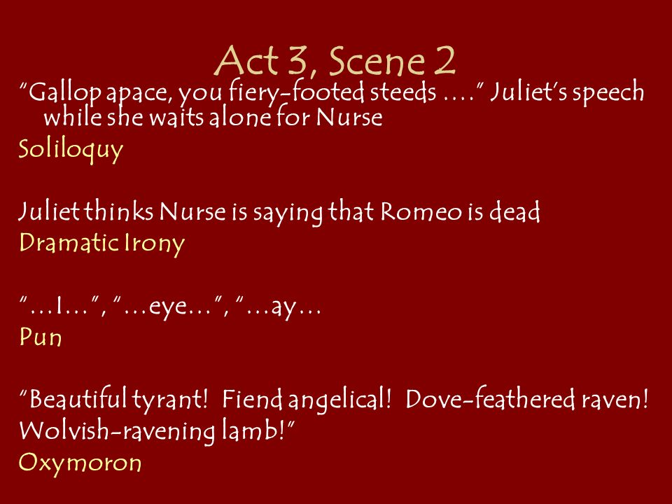 dramatic irony in romeo and juliet act 2