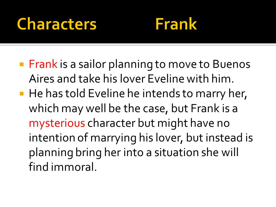 eveline james joyce character analysis
