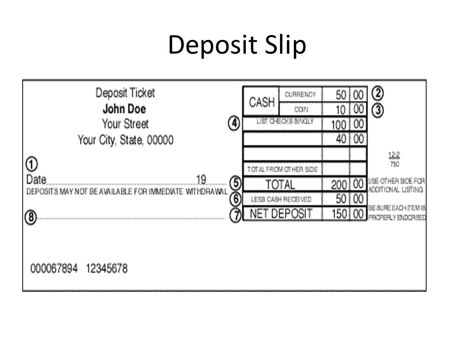 Deposit+Slip checking account parts of a check ppt video online download