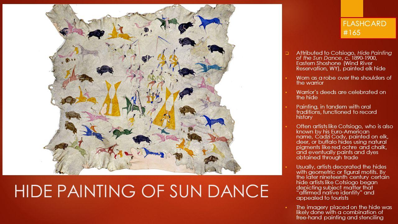 hide painting of sun dance