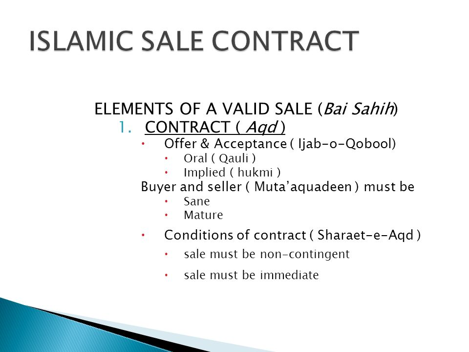 elements of contract of sale
