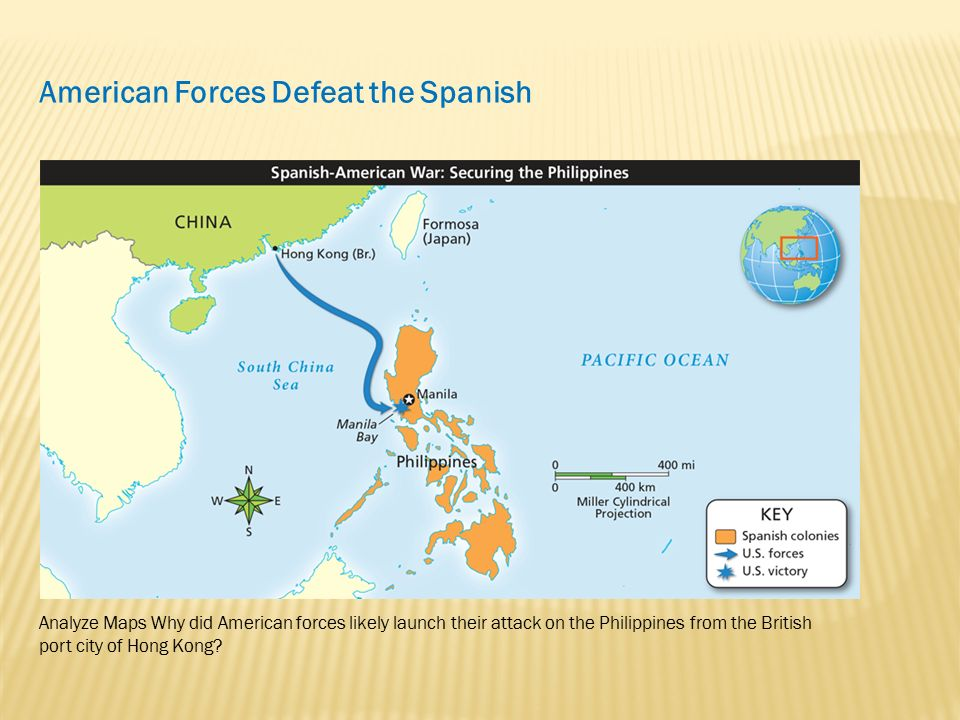 Spanish American War Philippines Map.America Comes Of Age Lesson 6 The Spanish American War Ppt