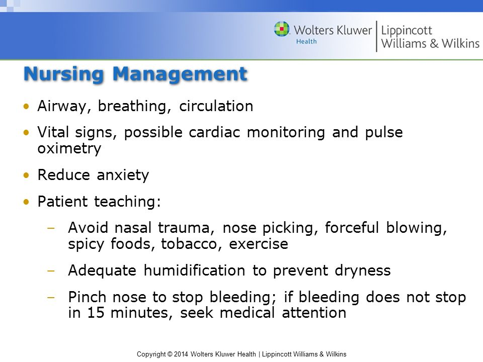 Management Of Patients With Upper Respiratory Tract