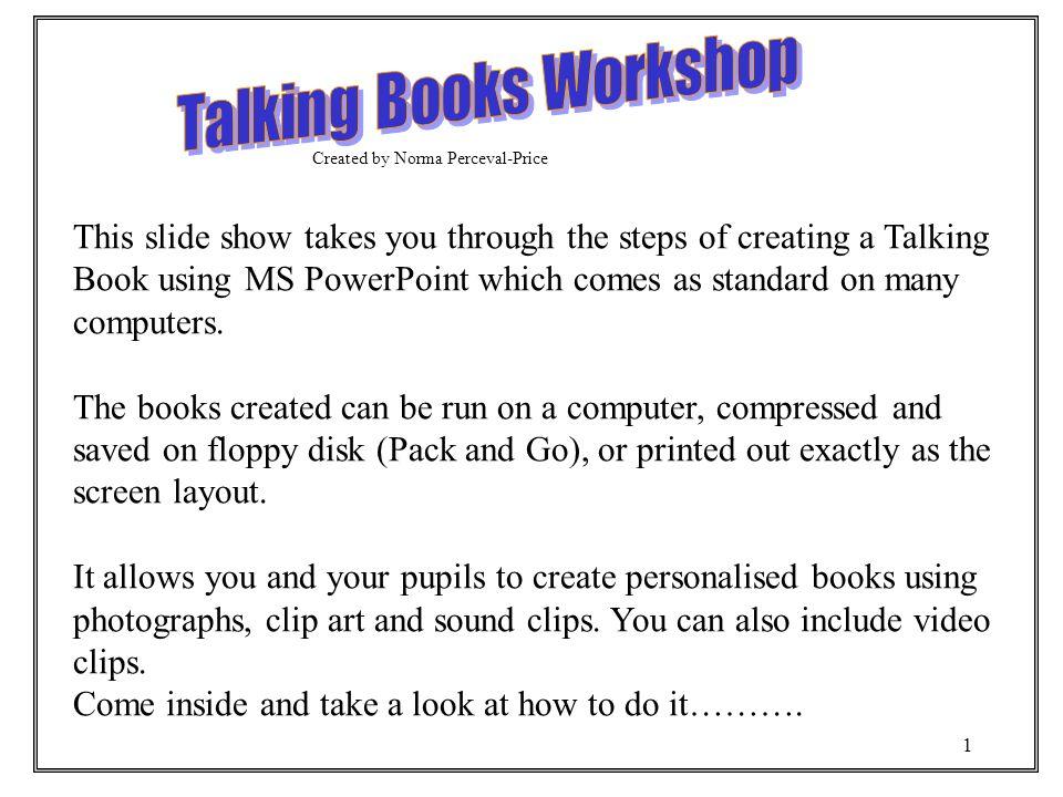 talking books workshop ppt download