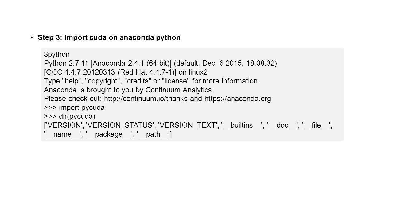 Installing CUDA, PyCUDA on Ubuntu - ppt video online download