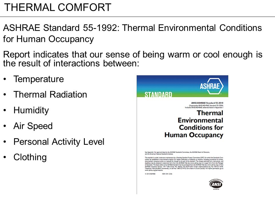 Thermal Comfort Ppt Video Online Download