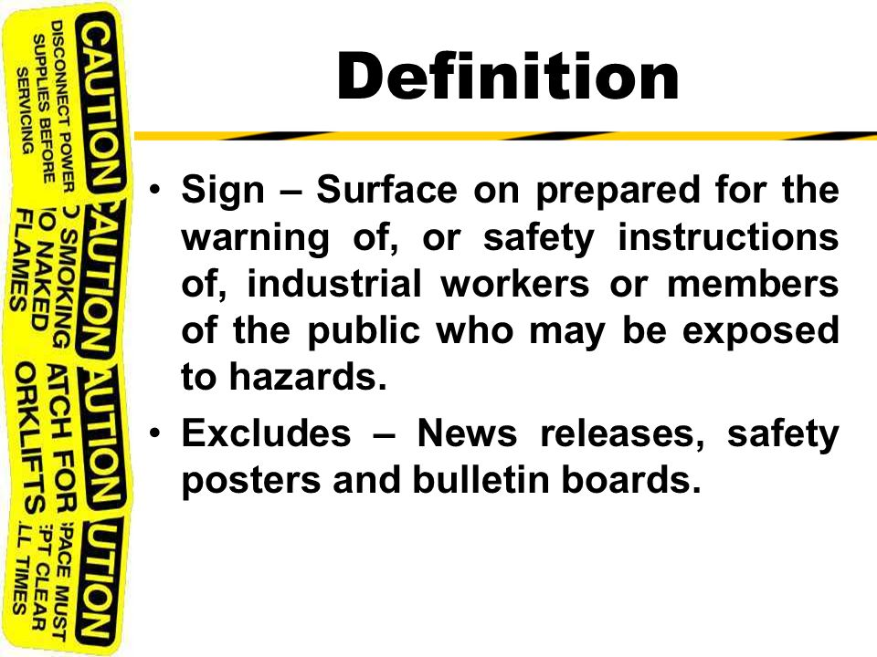 Specifications For Accident Prevention Signs And Tags Ppt Video