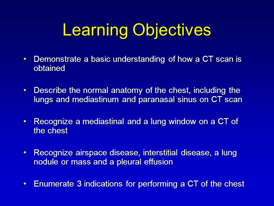 Introduction to Computed Tomography of the Chest and Paranasal ...