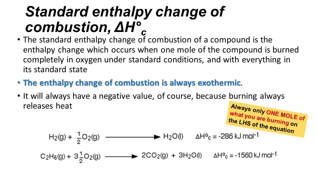 a comparison of the enthalpy changes of combustion of different alcohols Enthalpy change of combustion experiment introduction enthalpy change of combustion is the enthalpy change when a substance i will investigate how alcohols with increasing number of carbons affect the enthalpy change when an alcohol goes under combustion.