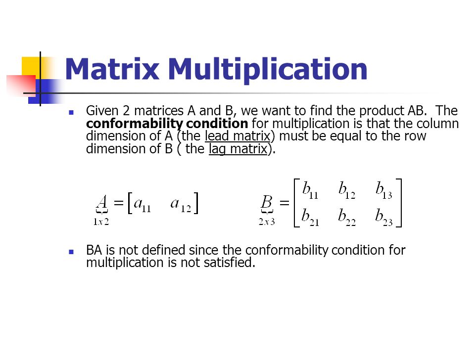 how to find the dimensions of a matrix when multiplying