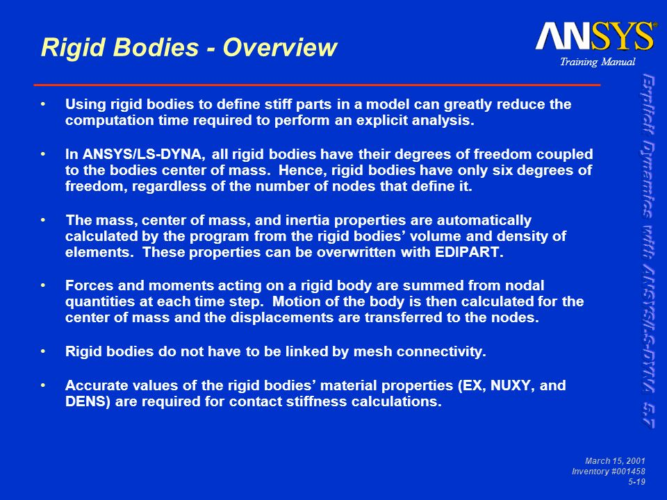 Boundary Conditions, Loading, And Rigid Bodies - ppt video