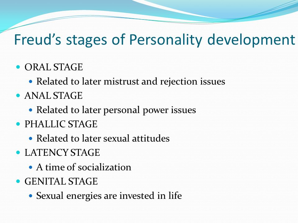 Stages of personality development freud
