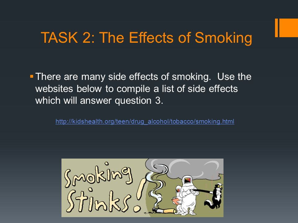 TASK 2: The Effects of Smoking
