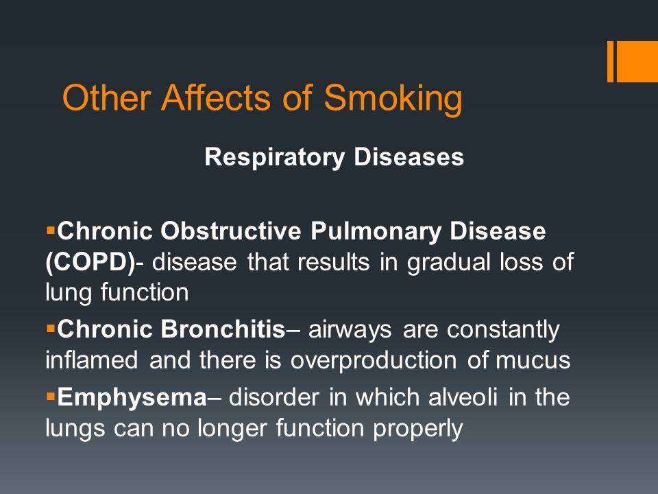 Other Affects of Smoking