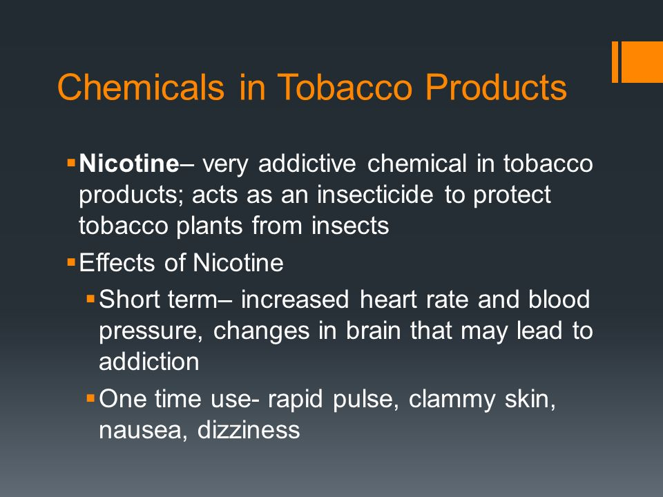 Chemicals in Tobacco Products