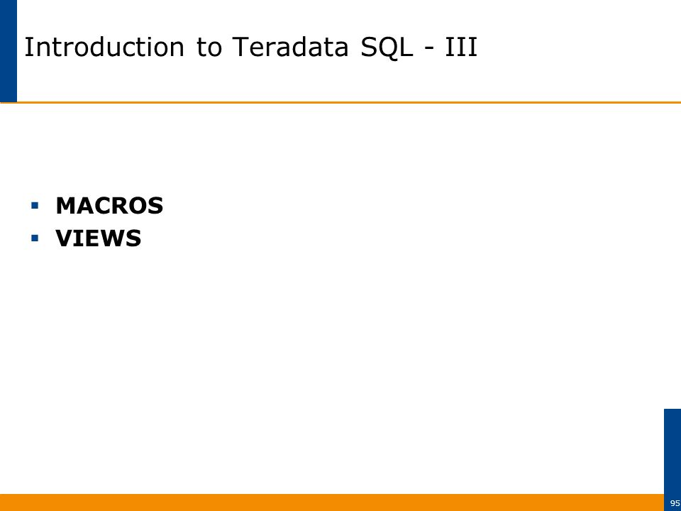 Introduction to Teradata SQL - ppt download